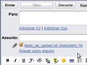 gmail upload feito